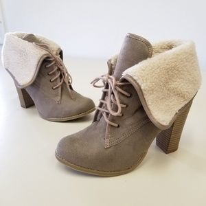 Shoes - Furry Fold Over Booties